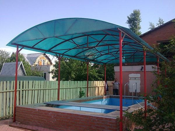 Арочный навес для бассейна